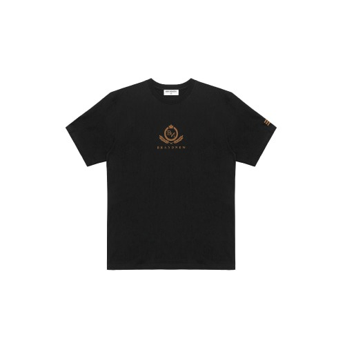 BRANDNEW CREST LOGO T-SHIRT BLACK